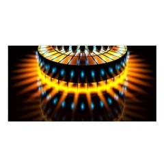 Abstract Led Lights Satin Shawl