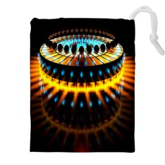 Abstract Led Lights Drawstring Pouches (xxl)