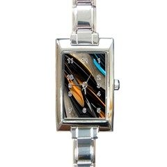 Abstract 3d Rectangle Italian Charm Watch