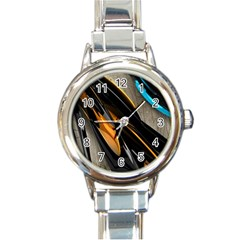 Abstract 3d Round Italian Charm Watch