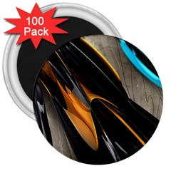 Abstract 3d 3  Magnets (100 pack)