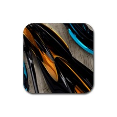 Abstract 3d Rubber Square Coaster (4 Pack)