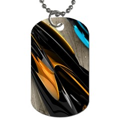 Abstract 3d Dog Tag (one Side)