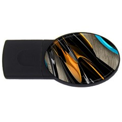 Abstract 3d USB Flash Drive Oval (1 GB)