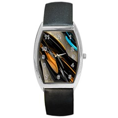 Abstract 3d Barrel Style Metal Watch