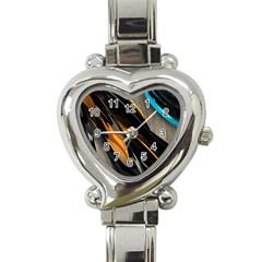 Abstract 3d Heart Italian Charm Watch
