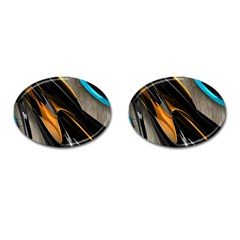 Abstract 3d Cufflinks (Oval)