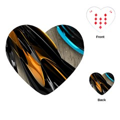 Abstract 3d Playing Cards (Heart)