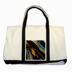 Abstract 3d Two Tone Tote Bag