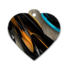 Abstract 3d Dog Tag Heart (one Side)