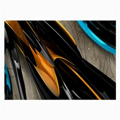 Abstract 3d Large Glasses Cloth (2 Side)