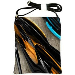 Abstract 3d Shoulder Sling Bags