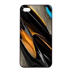 Abstract 3d Apple iPhone 4/4s Seamless Case (Black)