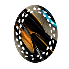 Abstract 3d Oval Filigree Ornament (Two Sides)