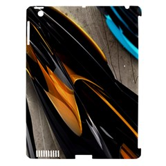 Abstract 3d Apple iPad 3/4 Hardshell Case (Compatible with Smart Cover)