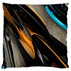 Abstract 3d Large Cushion Case (One Side)