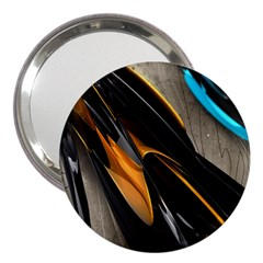 Abstract 3d 3  Handbag Mirrors
