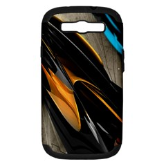 Abstract 3d Samsung Galaxy S III Hardshell Case (PC+Silicone)