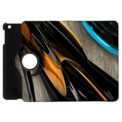 Abstract 3d Apple Ipad Mini Flip 360 Case