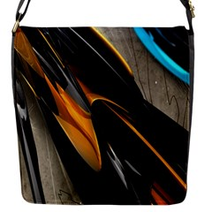 Abstract 3d Flap Messenger Bag (S)
