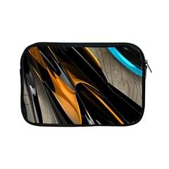Abstract 3d Apple Ipad Mini Zipper Cases