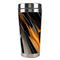 Abstract 3d Stainless Steel Travel Tumblers