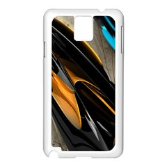 Abstract 3d Samsung Galaxy Note 3 N9005 Case (White)