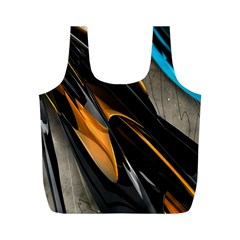Abstract 3d Full Print Recycle Bags (M)