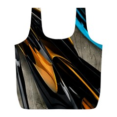 Abstract 3d Full Print Recycle Bags (L)