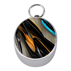 Abstract 3d Mini Silver Compasses