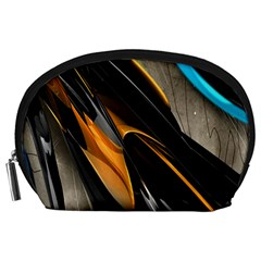 Abstract 3d Accessory Pouches (large)