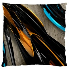 Abstract 3d Large Flano Cushion Case (One Side)