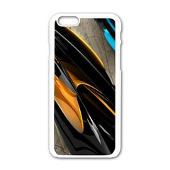 Abstract 3d Apple Iphone 6/6s White Enamel Case
