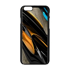 Abstract 3d Apple iPhone 6/6S Black Enamel Case
