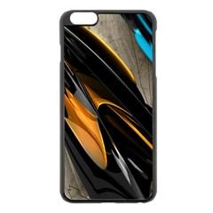 Abstract 3d Apple Iphone 6 Plus/6s Plus Black Enamel Case
