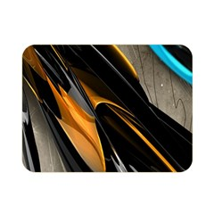 Abstract 3d Double Sided Flano Blanket (mini)
