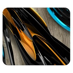 Abstract 3d Double Sided Flano Blanket (Small)