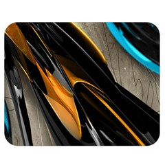 Abstract 3d Double Sided Flano Blanket (medium)