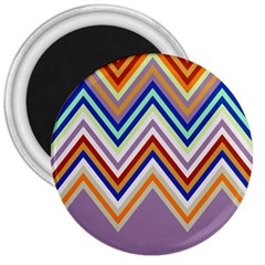 Chevron Wave Color Rainbow Triangle Waves Grey 3  Magnets