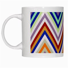Chevron Wave Color Rainbow Triangle Waves Grey White Mugs