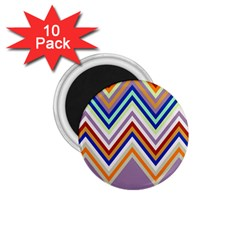 Chevron Wave Color Rainbow Triangle Waves Grey 1 75  Magnets (10 Pack)