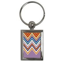 Chevron Wave Color Rainbow Triangle Waves Grey Key Chains (rectangle)