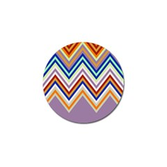 Chevron Wave Color Rainbow Triangle Waves Grey Golf Ball Marker (10 Pack)