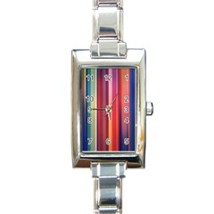 Texture Lines Vertical Lines Rectangle Italian Charm Watch