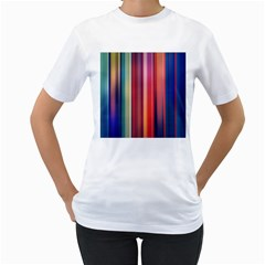 Texture Lines Vertical Lines Women s T Shirt (white) (two Sided)