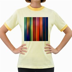 Texture Lines Vertical Lines Women s Fitted Ringer T Shirts