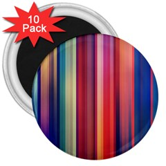 Texture Lines Vertical Lines 3  Magnets (10 Pack)