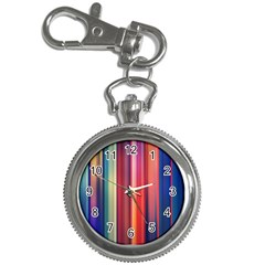 Texture Lines Vertical Lines Key Chain Watches