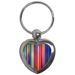 Texture Lines Vertical Lines Key Chains (Heart)
