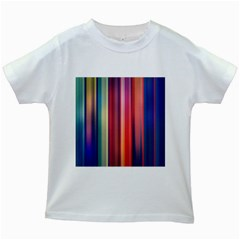 Texture Lines Vertical Lines Kids White T Shirts